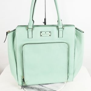 Kate Spade Mint Teal Blue Tote Style Handbag